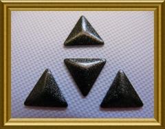 100   Metall Sonderformen Dreieck Schwarz Glitter 8mm