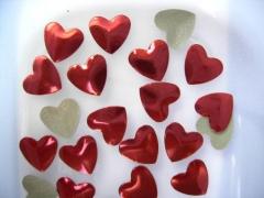 100   Herzen 9mm Rot