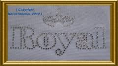 Strass Schrift Royal mit Krone 101118