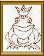Bügelmotiv Froschkönig Gold 130115