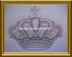 Hotfix Strass Bild Motiv riesige Krone 110221 Farbwahl