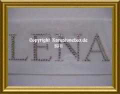 Hotfix Strass Motiv Schriftzug Name LENA 110228