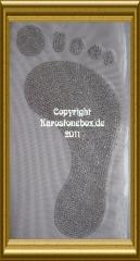 Strass Bügelmotiv riesiger Fuß Fußabdruck 110325 Farbwahl