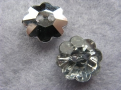 1 Schmuck Strass Knopf Blume 13mm Crystal
