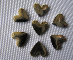 100 Melall Formen Herz Gold 6mm