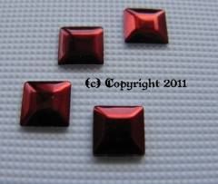 100 Formen Quadrat rot 5mm zum aufbügeln