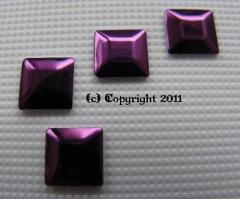 100 Formen Quadrat Dark Amethyst Lila 5mm zum aufbügeln