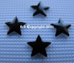 100 Melall Formen Stern schwarz 5mm