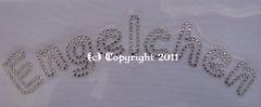 Hotfix Strass Bügelbild Schrift Engelchen 120120