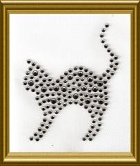 Kleines Strass Kätzchen Black Diamond 170420