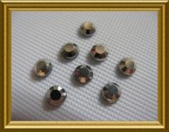 1000   Strasssteine SS10 ca. 3mm Silber