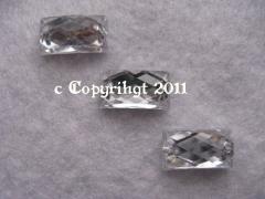 Strasssteine aufnähen 15 Aufnähsteine crystal  Rechteck ca. 14 x