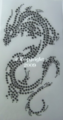 Bügelbild Drachen schwarz  120131