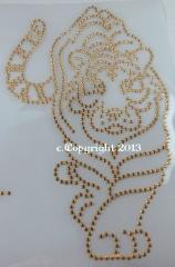 Hotfix Iron On Aufbügler Tiger Gold 080417