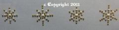 Bügelbild sehr hübsche EDLE  Sternchen Gold/Perlmutt 111209