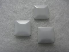 100 Metall Formen Quadrat Weiss 7x7 mm