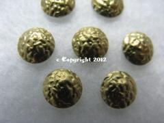 360 Hotfix Nailhead gehämmert 2mm Gold
