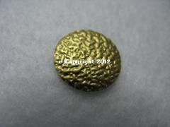 20 Hotfix Nailhead gehämmert 8mm Gold
