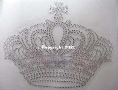 Hotfix Strass Bild Motiv riesige Krone 110221 Crystal