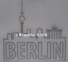 Hotfix Bügelbilder Strass BERLIN 110805