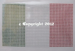 Bügelbild Fahne Wappen Flagge WM Italien groß 120215