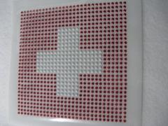 Bügelbild Strass Fahne EM 2016 Schweiz Iron On groß 120215