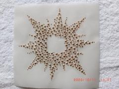 Hotfix Bügelbild Sonne Ornament 120319 Metallstuds Farbwahl