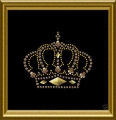 Aufbügler Strass Tolle Krone Gold  081433-01da