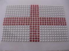 Hotfix Bügelbild Fahne EM 2012 England Iron on klein 120511