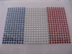 Hotfix Bügelbild Strass Fahne EM 2012 Frankreich klein 120511