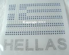 Hotfix Bügelbild Fahne mit Strass Griechenland Hellas 120616