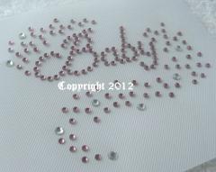 Hotfix Bügelbild Strass Baby  rosa 120613