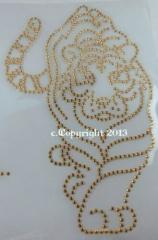 Aufbügler Tiger Gold 080417-09se