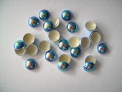 720   Dome Studs 2mm Blau AB Irisierend