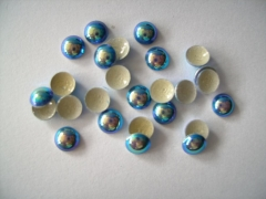 720   Dome Studs 3mm Blau AB Irisierend
