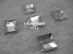 10 Strasssteine aufnähen Quadrat Nr.2 ca. 12mm Crystal AAA Quali