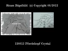 Strass Bügelbild Pferdekopf Crystal 120813