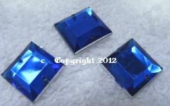 Aufnähsteine Quadrat ca. 12mm Cobalt Roayal AAA Qualität