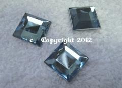 Aufnähsteine Quadrat ca. 12mm Hellblau AAA Qualität