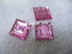 Aufnähsteine Quadrat ca. 12mm Rosa AAA Qualität