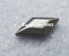 50 Hotfix Bügel Nieten Raute Antik Silber Black-Nickel 13 x 8nmm