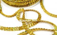 72 Meter Hologram Paillettenband Gold Grundpreis 1 Rolle 24,95 E