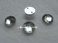 Strass Aufnähsteine Rund faccetiert ca.8mm  Crystal
