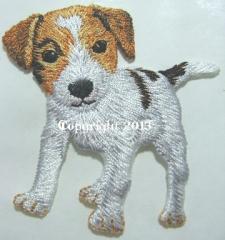 Patch Applikation Bügelbild Welpe Fox Terrier 15657-004