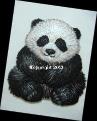 Patch Applikation Hotfix Bügelbild Panda Bär 15657-005