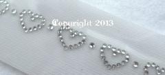 Strass Bügelbild Herz - Kette Borte crystal 130119