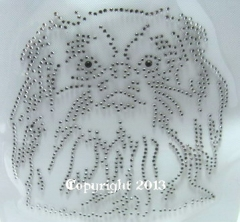 Strass Bügelbilder Hund Pekinese Hundezucht Zuchtverband 130301