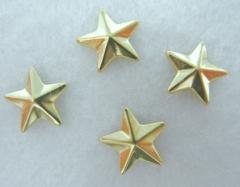 50 Hotfix Bügelnieten Nieten zum aufbügeln Stern Gold 8 mm