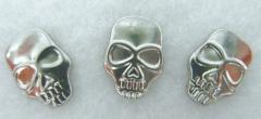 10 Hotfix Skull Totenkopf Bügelnieten Nieten Silber