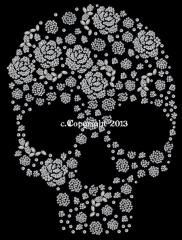 Bügelmotive Totenkopf Skull Rosenformen 130109-06sa